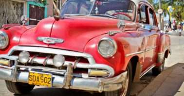TRINIDAD-JAN 13:Classic Chevrolet on January 13,2010 in Trinidad, Cuba.Before a new law issued on October 2011,cubans could only trade old cars that were on the road before the revolution of 1959