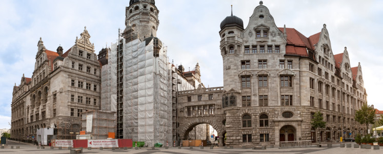 Neues Rathaus (New Town Hall) in Leipzig, Germany,,,