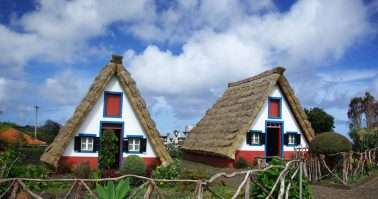 Typical old houses on Madeira island