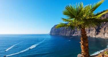 View of Los Gigantes cliffs. Tenerife, Canary Islands, Spain