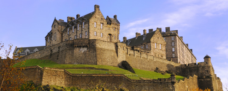 Edinburgh Castle on a beautiful clear, crisp fall day.
